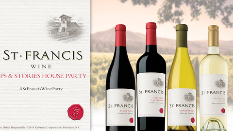 St. Francis Winery & Vineyards Sips and Stories Party
