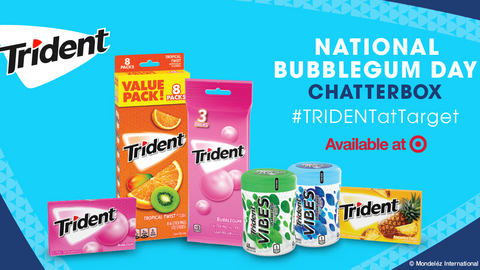 TRIDENT National Bubblegum Day at Target Chatterbox