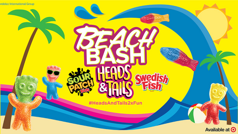 SOUR PATCH Kids® and SWEDISH FISH® Soft & Chewy Candy Heads & Tails Beach Bash