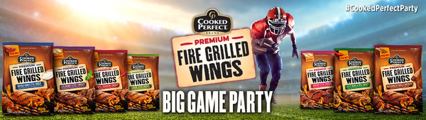 <i>Cooked Perfect</i> Premium Fire Grilled Wings® Big Game Party House Party