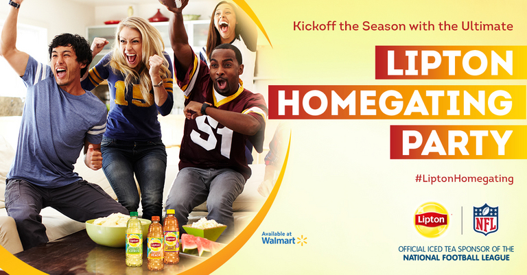 You've got to check out Lipton®'s Lipton® Homegating Party with Walmart event on Ripple Street!